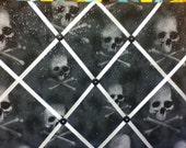 Skulls on Black photo memory board