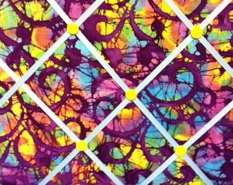 Batik Purple Swirl Photo Board