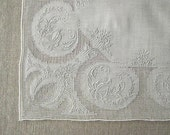 RESERVED FOR JESSICA, Maderia Embroidery, Drawn Work, White on White Bridal Linen, 40 plus Count, Exquisite, Must See
