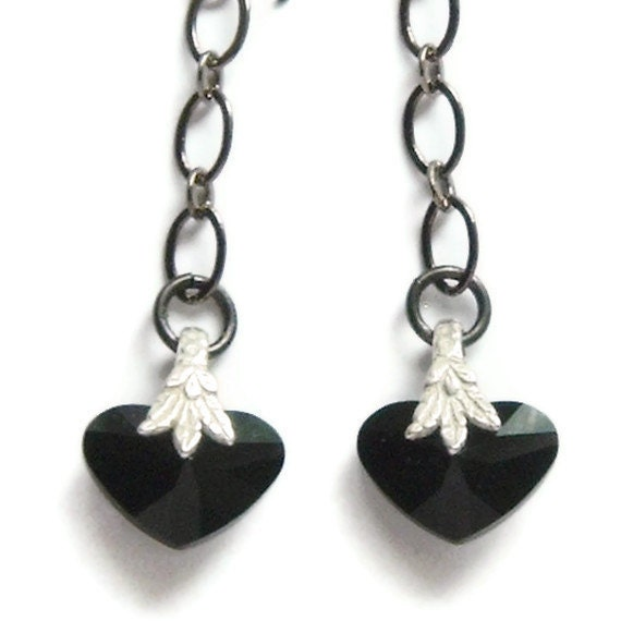 Crazy for You Jet Black Earrings