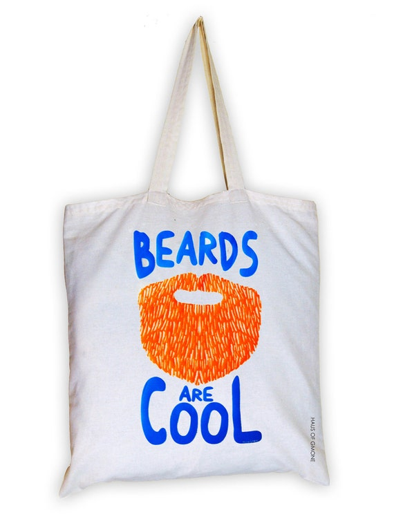 beards are cool-ginger hair  tote shopping or beach bag