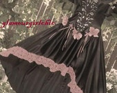 Black Victorian Dress for goth / halloween / costume / vampire / renaissance