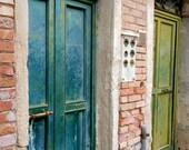 Green Doors Venice - 8X10 Original Fine Art Photograph