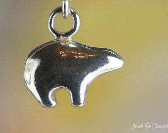 Miniature Zuni Bear Charm Sterling Silver Southwest Native American Bears