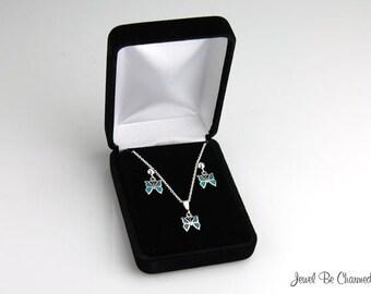 Black Velvet Jewelry Box for Earrings, Pendant or Necklace