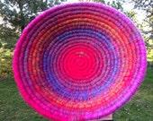 Aurora Rainbow/Multi-colored Coiled Basket