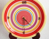 Wall Clock Plate Circle Design - RFClocksandLights