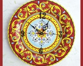 Wall Clock Decorative Ceramic  Plate
