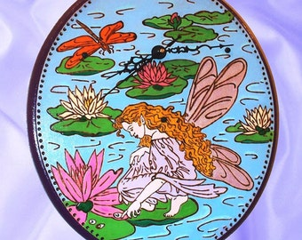 Wall Clock Water Lily Fairy