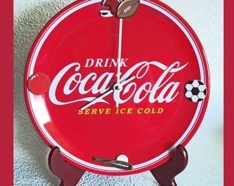 Plate Wall Clock Coca Cola Sports