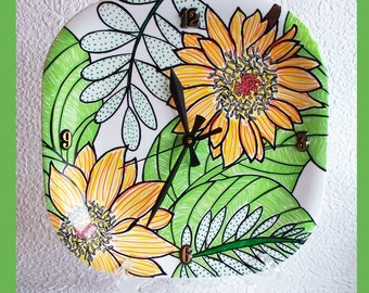 Wall Clock Hand Painted