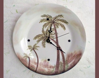 Tropical Wall Clock Plate
