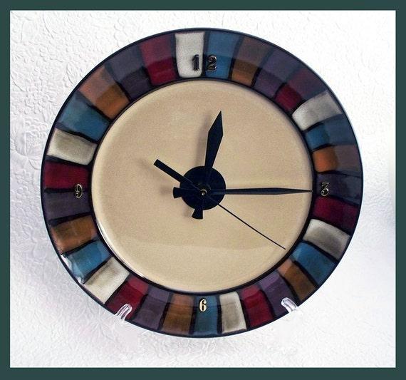 Ceramic Wall Clock Plate fan edge design.