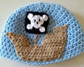 Crochet Pattern - Pirate Ship Applique