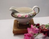 Vintage Creamer Small Pitcher Knowles Taylor and Knowles K T and K China Flowers