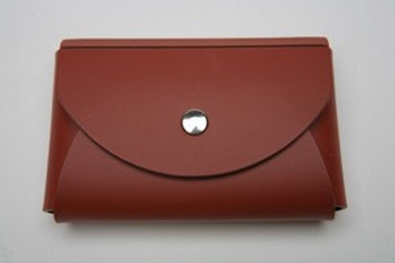 Cognac Leather Business card case - Venezia-Style - Free Shipping