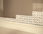 Periodic Table of Elements Wood Blocks