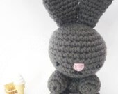 Amigurumi charcoal grey bunny