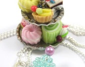 Miniature Cake Stand Necklace