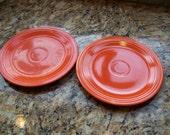 Vintage Fiesta Luncheon Plate in Red