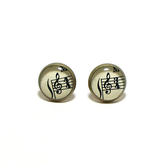 Treble Clef 1927 Sheet Music Earrings