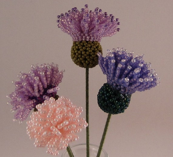 items similar to bouquet beaded flowers with vase