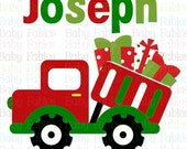 Christmas IRON ON TRANSFER - Truckload of Presents