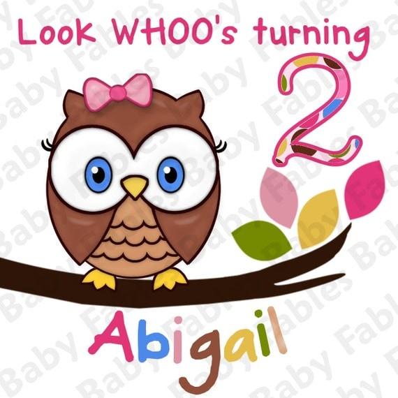 Birthday Boy or Girl IRON ON TRANSFER Look Whoo's 2 Birthday Boy Birthday Girl Heat Transfer Owl Birthday 1st Birthday First Birthday