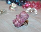 Glitter glam Gummy Bear Ring