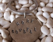 Handstamped Keychain Charm More Cowbell