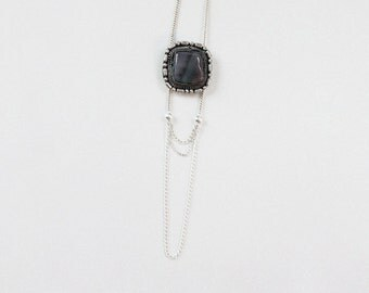 Woodland Elegance Necklace --- jasper and draping chains