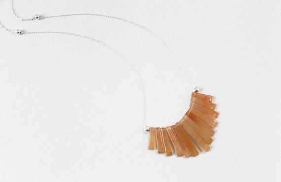 Citrine Keys Necklace