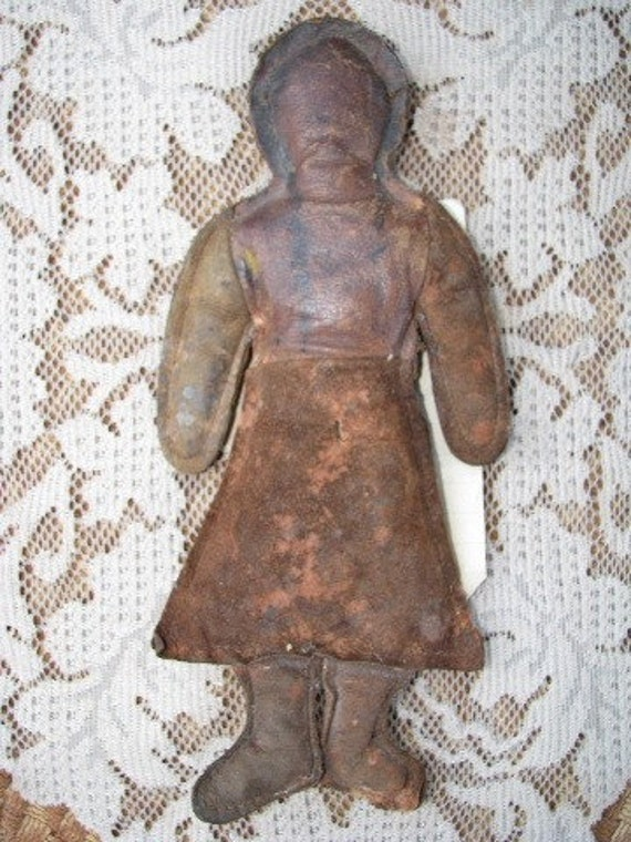 Antique Leather Doll