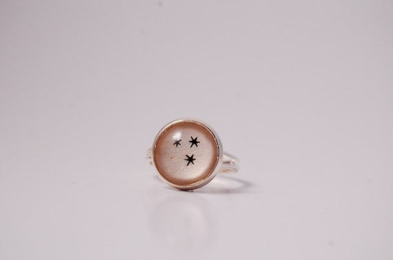 Book Page Star Ring (inspired by Harry Potter)