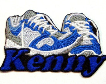Iron on Patch Running Shoes Name Personalized Free