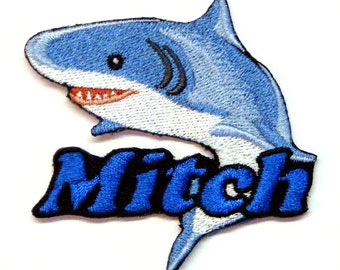 Iron on Patch Shark Name Personalized Free