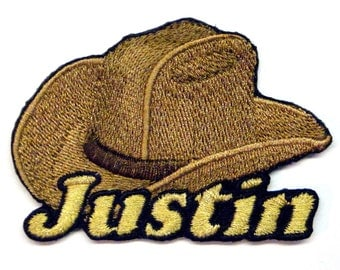 Iron on Patch Cowboy Hat Name Personalized Free