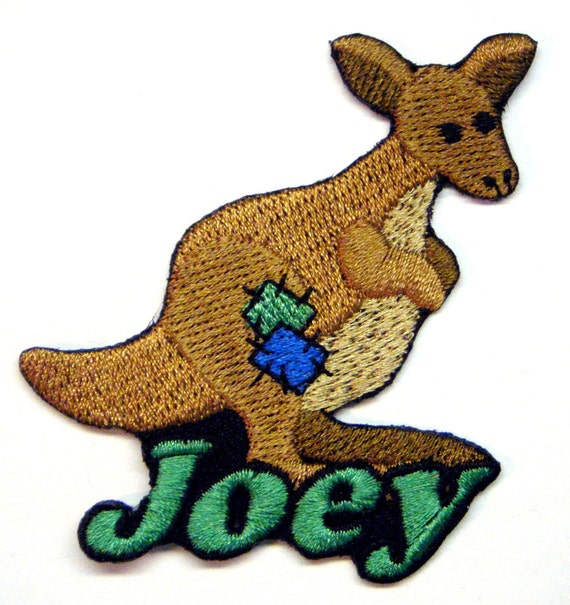 Iron on Patch Patchwork Kangaroo Name Personalized Free