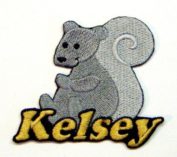 Iron on Patch Squirrel Name Personalized Free