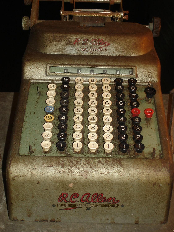 R C Allen Vintage Cash Register