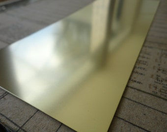 "Brass Metal Sheet 4"" x 10"""
