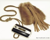 Genuine Vintage Mink Fur Mini Handbag