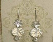 A Spring View faceted crystal, brushed sterling and topaz earrings--TeamBPAL Fundraiser