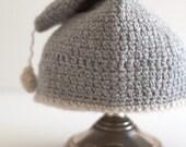 baby rain drop night cap - repurposed cashmere