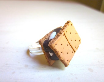 Polymer Clay S'mores Ring