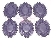 Lavender Resin 18 X 25mm setttings - Set of 6