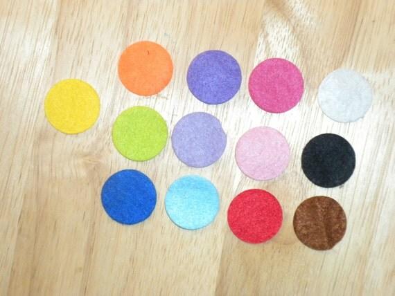 500 You pick 5 colors 1 inch felt circles