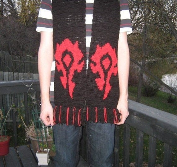 Horde Scarf Inspired by World of Warcraft