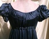 Jane Austen English Regency Gown French Empire Dress in Silk Chiffon