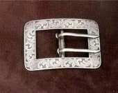 Vintage Edwardian Art Nouveau German Silver Belt Buckle
